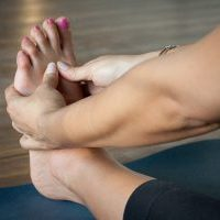 woman, foot, relaxation